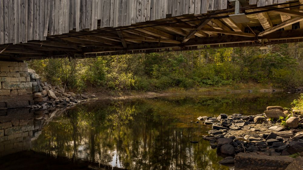 """Under the Bridge"", by Tom Mason. Taken at Dumbarton, NB."