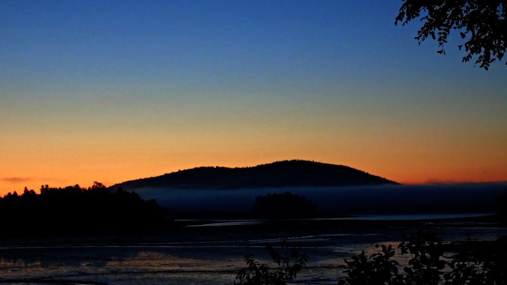 """Fog In The Sunrise"", by Elva Young. Taken at Oak Haven, N.B.."