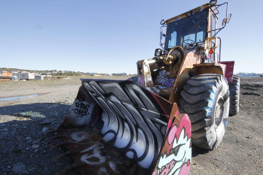 """""""Graffiti at Work"""", by Kelly Donovan. Taken at King's Wharf, Dartmouth."""