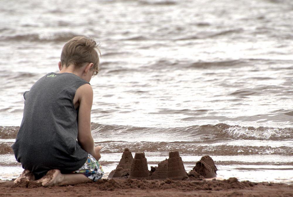 """Watchin' the tide roll in....."", by Lisa MacKay. Taken at Cape Traverse."