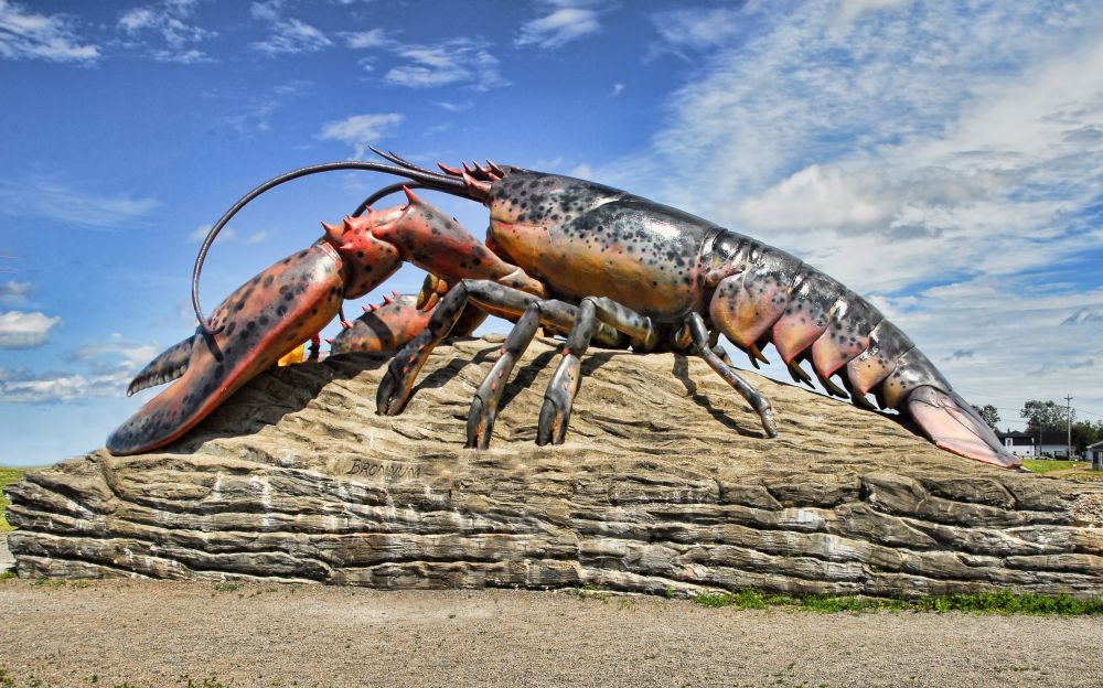 """The World's Largest Lobster"", by Graham Hobster. Taken at Shediac, NB."