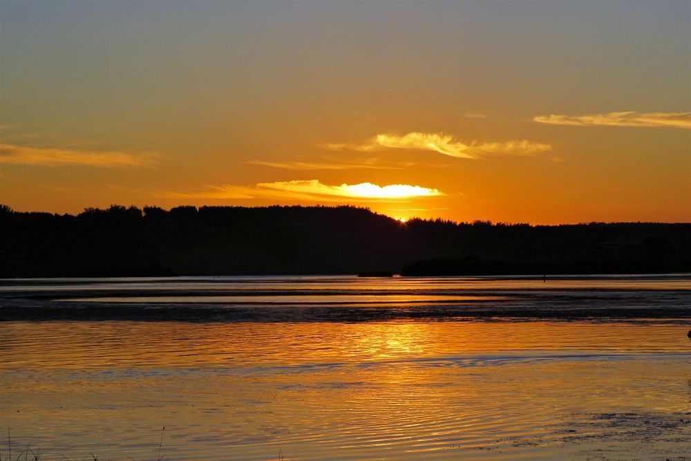"""Meduxnekeag River Sunset"", by Dorothy Chase. Taken at Woodstock, New Brunswick."