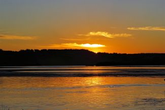 Meduxnekeag River Sunset by