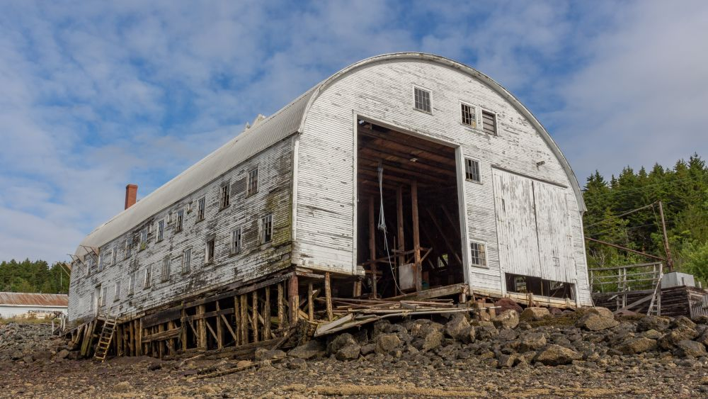 """Connors Brothers Boat Shop"", by Tom Mason. Taken at Blacks Harbour."