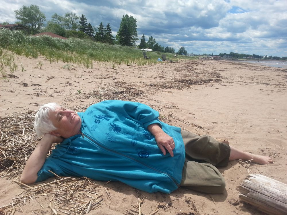 """Beach Nap"", by Marilyn Martell. Taken at Marshville, N.S.."