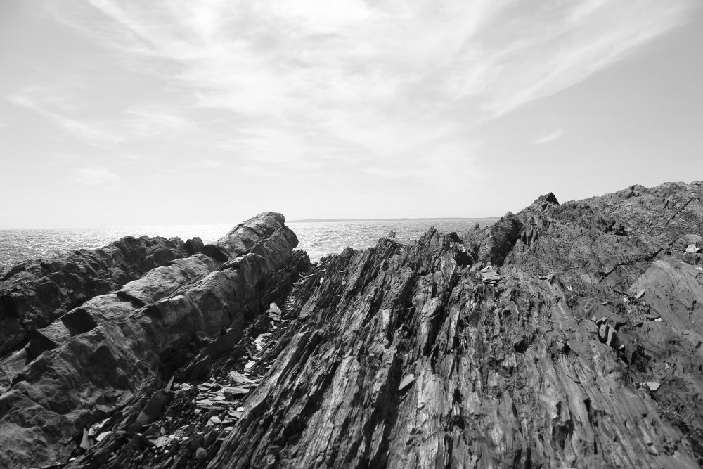 """Rock and Water"", by Susan V Stylianou. Taken at Gaff Point Hiking Trail."