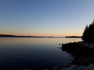 St. Margaret's Bay  at sunset by