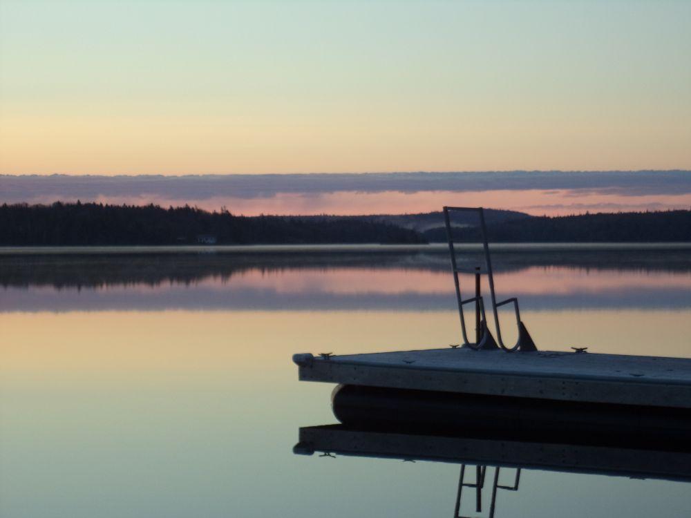 """""""Quiet Dock"""", by Anita Daye. Taken at Lake Charlotte, NS."""