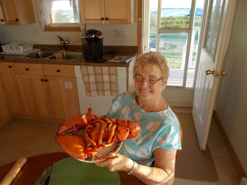 """Mom love Canadian Lobster"", by Dwight Estey. Taken at Prince Edward Island."