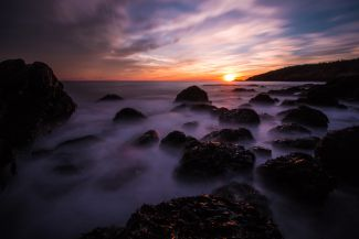 Sundown from Gooseberry Cove by