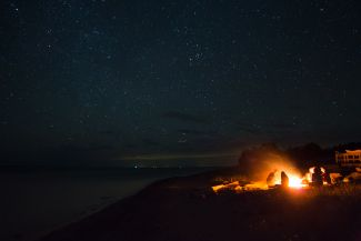 Campfire at Kouchibouguac by