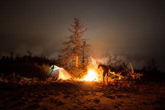 Campsite on Caribou Island by