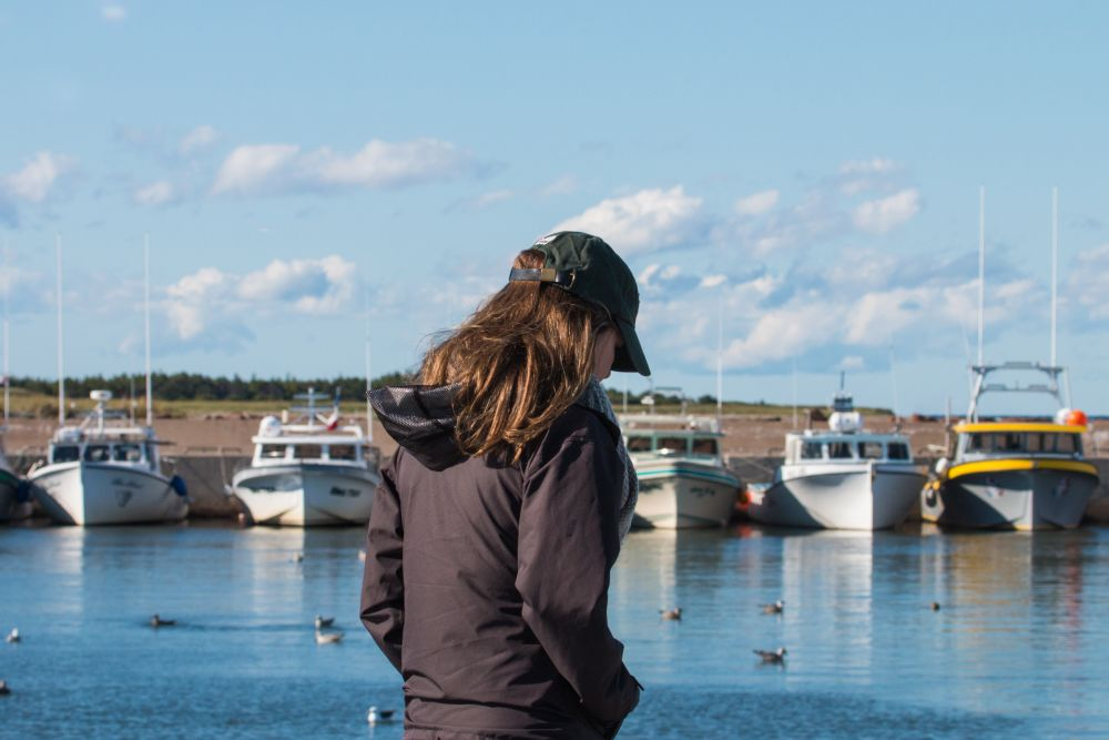 """""""Around the wharf"""", by Brent Wilson. Taken at Cap Lumiere, NB."""