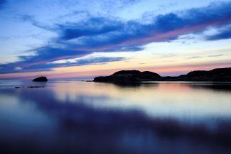 Sunset Back Harbor Newfoundland by