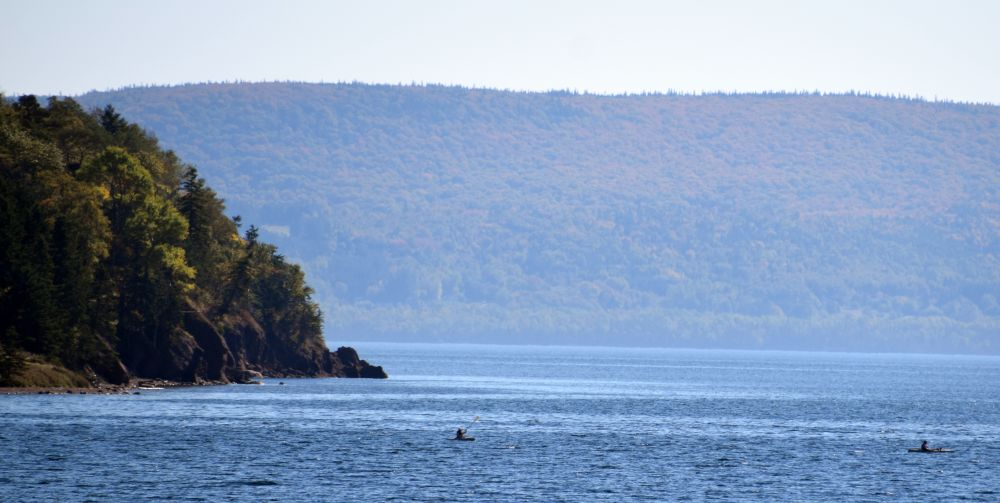 """Kayakers"", by MB Whitcomb. Taken at Baddeck, NS."