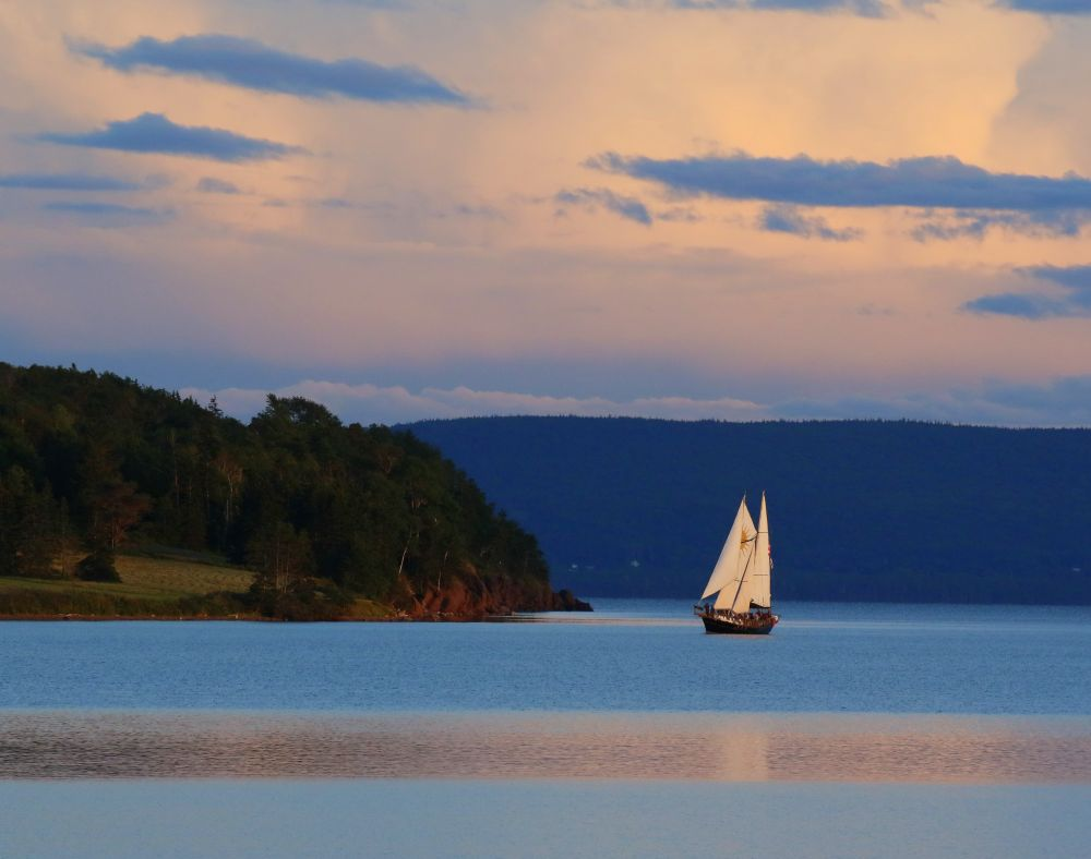 """Red Head Sunset"", by MB Whitcomb. Taken at Baddeck, NS."