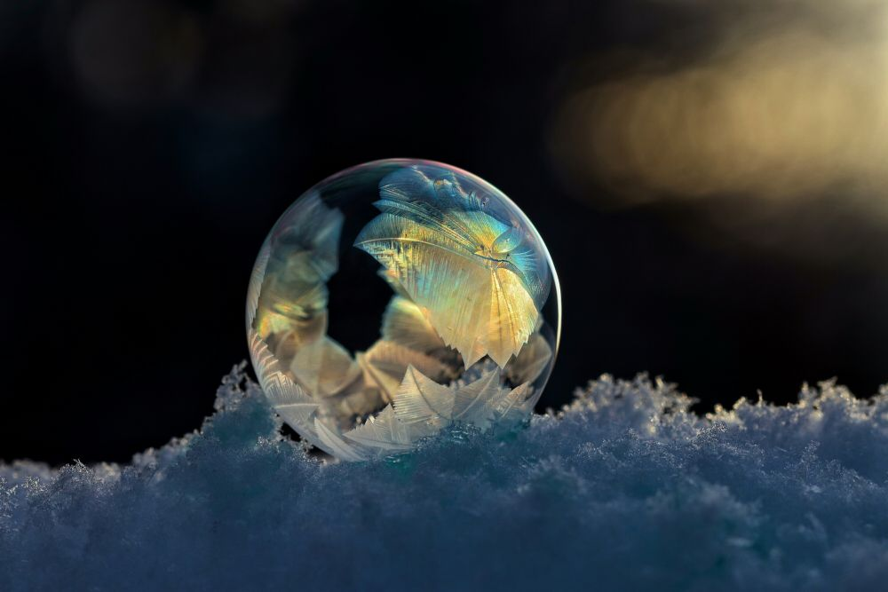"""Frozen Bubble Art"", by Catherine Hamilton. Taken at Anagance, N.B.."