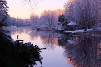 Sunrise on the canal by