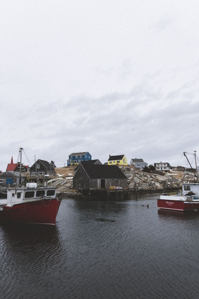 """""""Fishing Shacks"""", by Dylan Hebb. Taken at Peggy's Cove."""