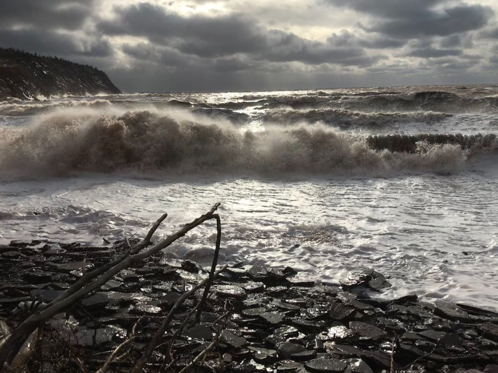 """""""Storm surge"""", by Connie Martin. Taken at Waterside Beach, Albert County."""
