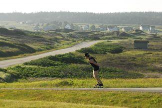 Skateboarding by