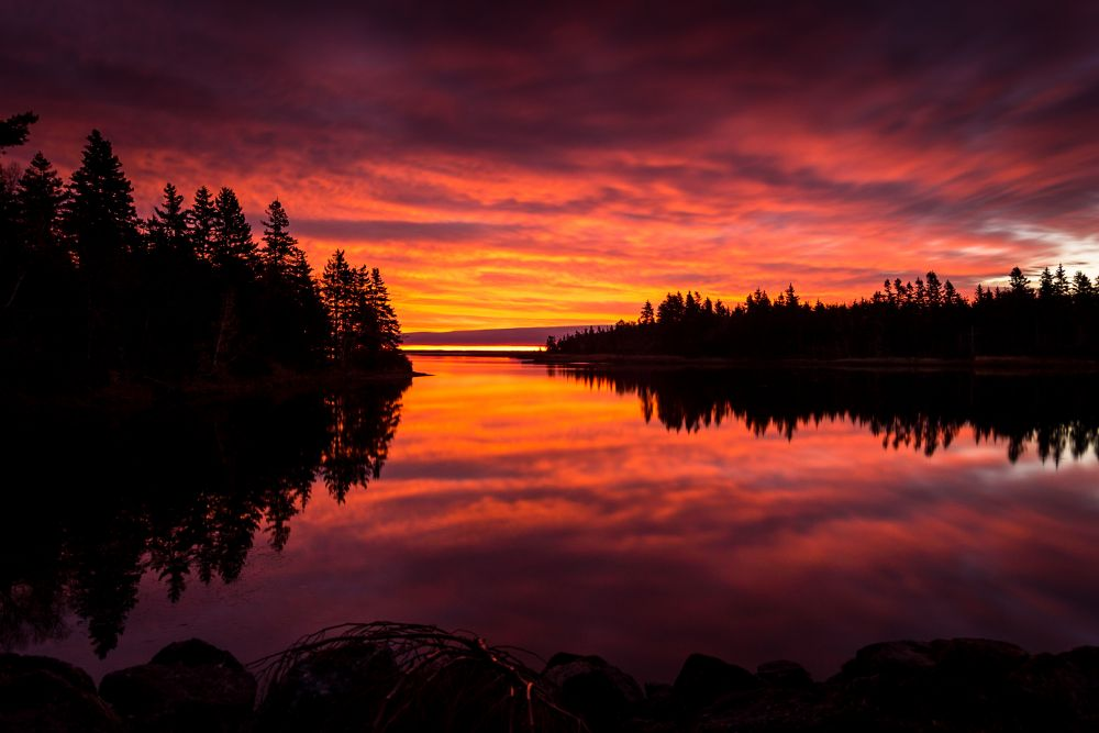 """Fundy National Park Sunrise"", by Gerard Gaudet. Taken at Fundy National Park  N.B.."