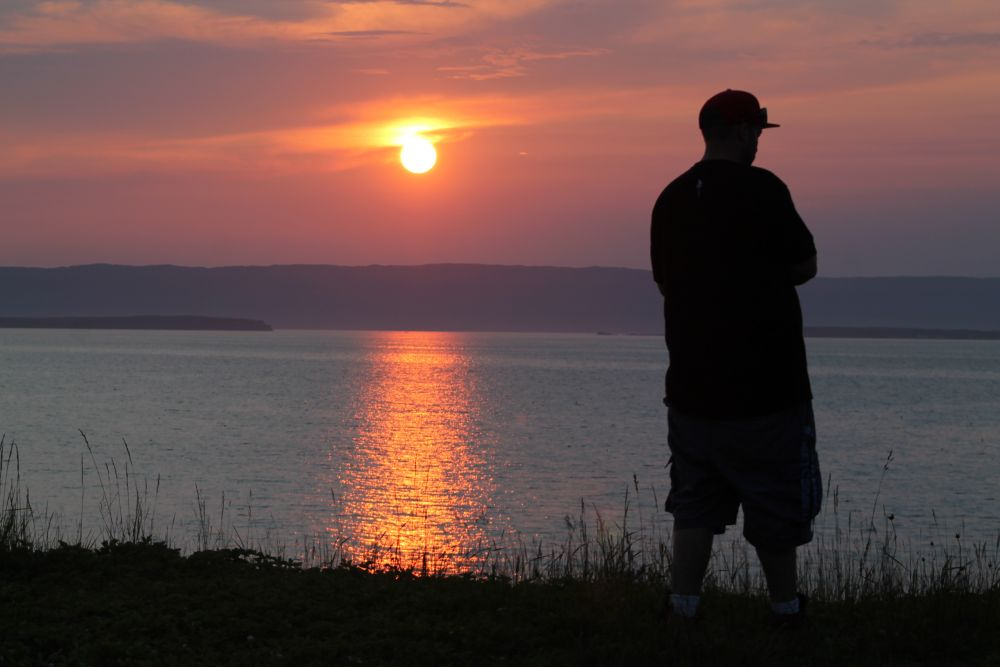 """""""Sun going down on me"""", by Ruth boudreau. Taken at Point aconi."""