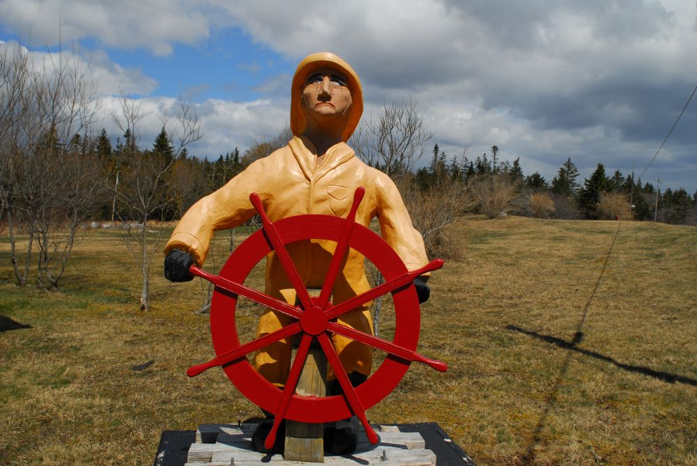 """""""AT THE HELM"""", by GLEN NEARING. Taken at SHELBURNE.CO."""