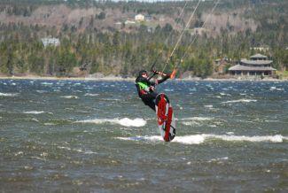 Kitesurfing by