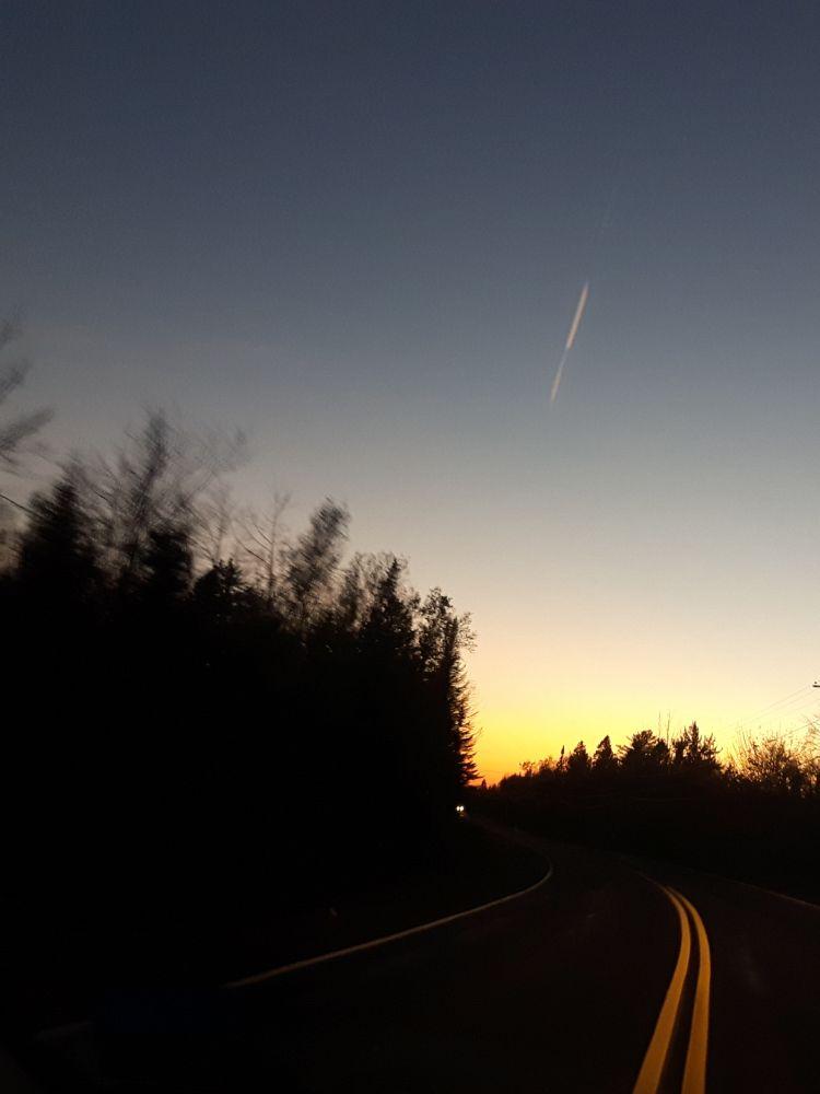 """""""Sunset in NB"""", by S. Dixon. Taken at Highway near Yoho lake, New Brunswick."""