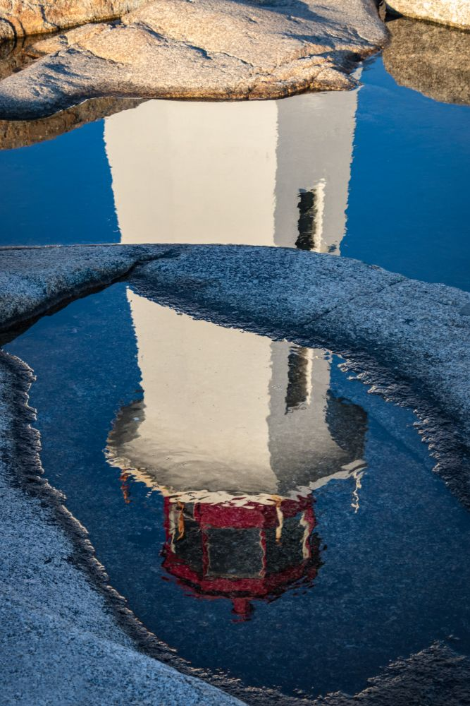 """""""Reflection - Peggy's Cove Lighthouse"""", by Lynn Fergusson. Taken at Peggy's Cove NS."""