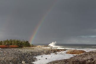 Pot of Gold in October Storm by