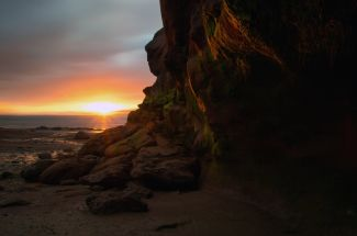 Burntcoat Head sunset by