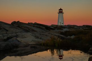 Peggy's Cove Sunrise Reflections by