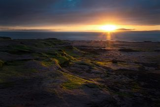 Burntcoat Head shore sunset by