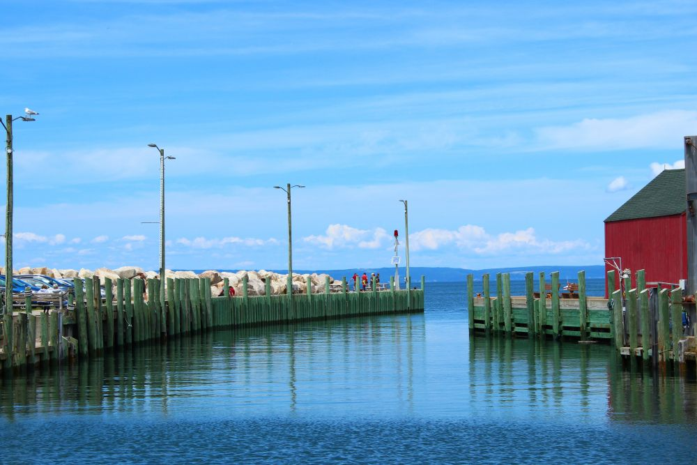 """""""A calm high tide"""", by Rena Nixon. Taken at Halls Harbour, NS."""