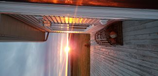 Back Porch Sunset by