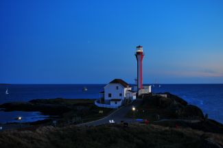 Dusk at Cape Forchu by