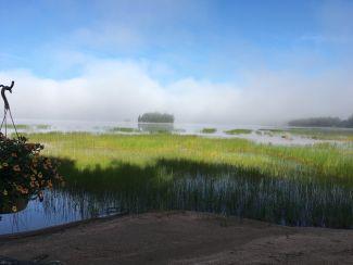 Lake Fog Lifting by