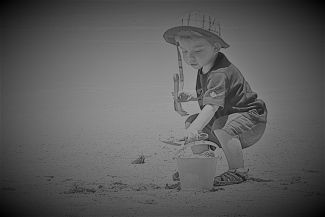 Playing in the sand by