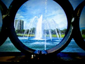 Focus Through the Fountain Fence by