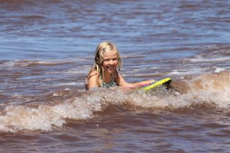 Surfing at the Shore by