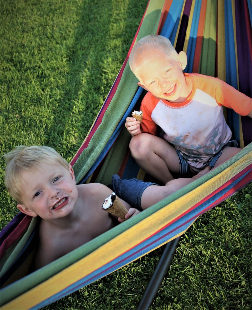 """""""What could be better then ice cream in a hammock!"""", by Anna Gerrior-Sangster. Taken at PEI."""