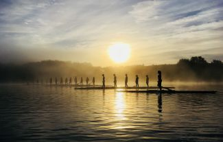 Rowers at Dawn by
