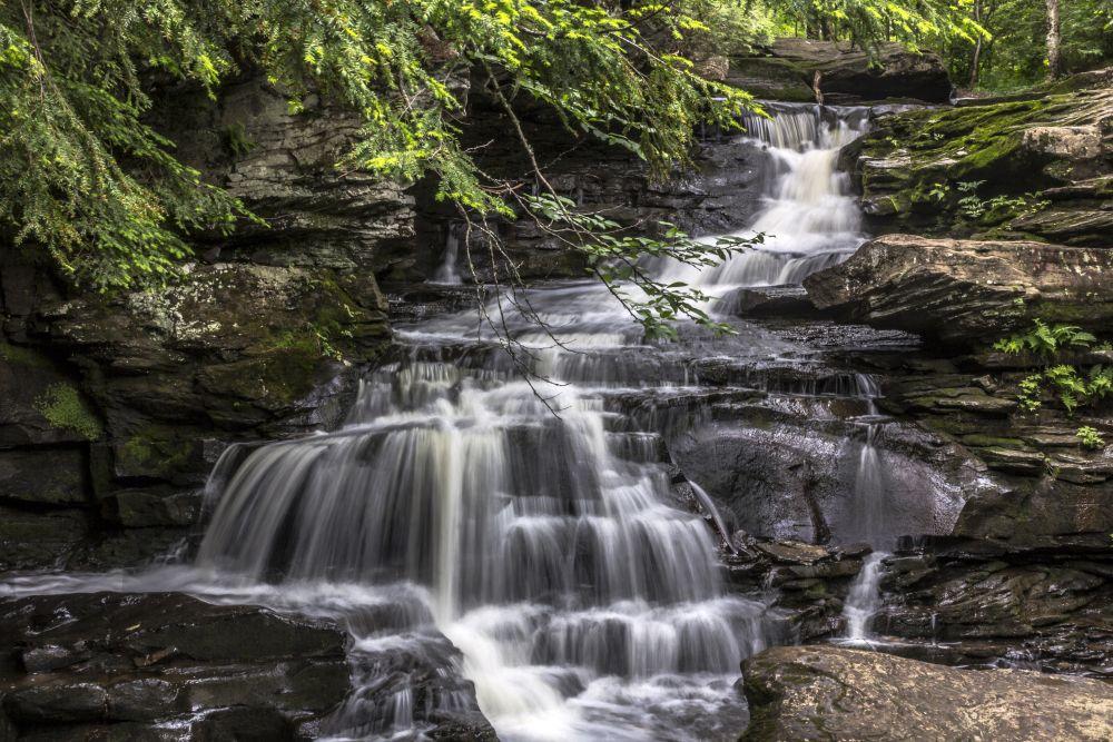 """""""Garden Creek Falls"""", by Carol Behan. Taken at Fredericton, NB."""