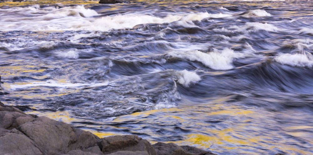 """Spectacular Rapids on the International Border"", by Carol Behan. Taken at St. Stephen, NB."