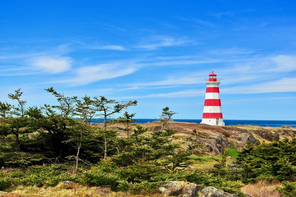 """""""BRIER ISLAND LIGHTHOUSE"""", by GLEN NEARING. Taken at DIGBY CO. NS."""